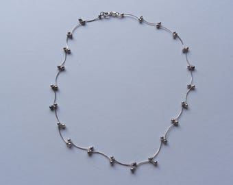 "Vintage Sterling Silver 18"" Necklace"