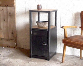 Entrance furniture wood metal industrial style custom