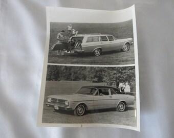 1967 Ford Falcon Coupe & Futura Wagon Factory Press Publicity Photo