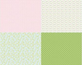 Pink Fat Quarter Panel One Yard Cut for Sew Cherry 2 by Lori Holt for Riley Blake Fabrics