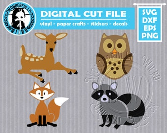 Forest Critters SVG cut file pack