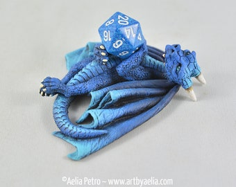 Blue Dice Dragon - Custom Made PRE-ORDER Shipping in 4-6 Weeks