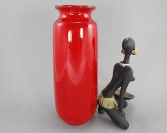 Vintage vase / Scheurich / 206 27 / red | West German Pottery | 60s