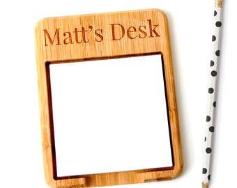 Personalized Note Holder - Office Gift under 15 - stocking stuffer - Co-worker desk gift
