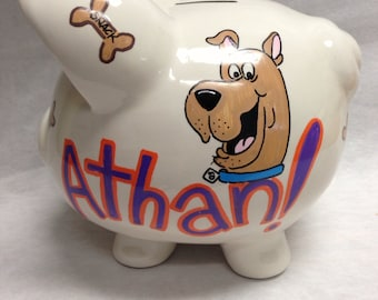 Personalized Piggy Bank Scooby Doo