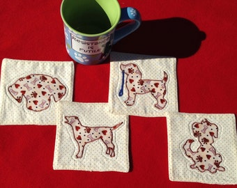 Dog Lover Quilted Coasters