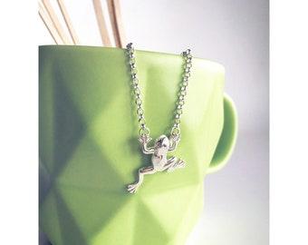 Handmade Silver Frog Pendant