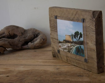 Reclaimed wood photo frame - Rustic wood picture frame - rustic photo frame  - rustic frames - handmade photo frame - one of a kind