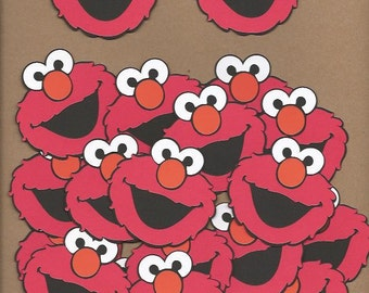 20- 2.5 inch tall Elmo Face Cricut Die Cut