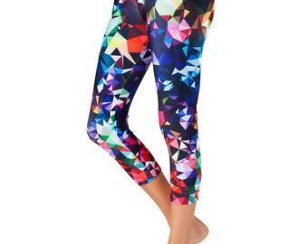 Capri Leggings / Yoga Leggings / Printed Capri Leggings / Print Capri Yoga Pants / Women's Leggings / Capri Leggings