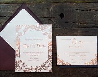 Allie Wedding Invitation Sample
