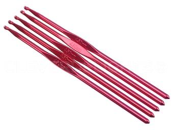 10 Pk - Size G/H / Size 7 Crochet Hooks - Aluminum - 6 Inch Length - 4.5mm Diameter - Crochet Knitting Craft Gift Projects