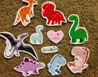 I Love Dinos Stickers!