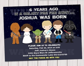 Galaxy Wars Party Package Digital Printabe Party Pack Star