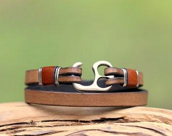 Mens leather bracelet, handmade, leather jewellery, mens bracelet, wrap bracelet, mens jewelry, best gift for summer