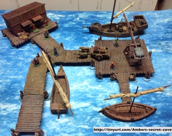Modular Bridge/Dock Set #4: Harbor Master's Pavillion