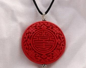 Red Cinnabar Pendant