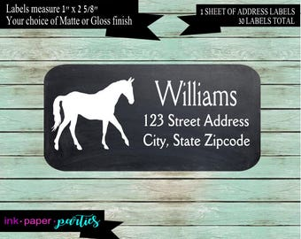 Horse Farm Pony Return Address Labels  Personalized Custom ~ We Print and Mail to You
