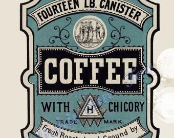 1800s Kitchen Cannister Labels DIY Print Instant Download Sugar Flour Coffee Tea