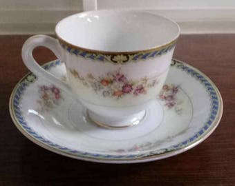 Yakama China Demitasse Teacup and Saucer-Made in Occupied Japan