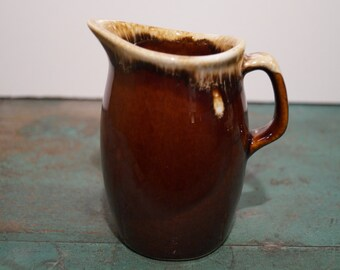 Hull Brown Drip Glaze Creamer