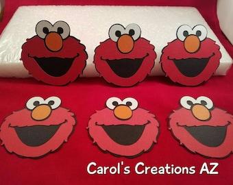 "6  3,4,5 or 5 3/4""  Elmo Die Cuts / Elmo Birthday Party / Sesame Street Die Cuts /   Child Birthday Party / Elmo Scrapbook Supply"