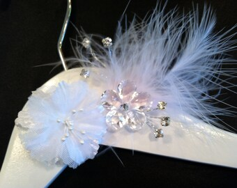 SALE Personalized Wedding Hanger/ Brides Hanger/ Bride/ Name Hanger/ Wedding Hanger/Flower