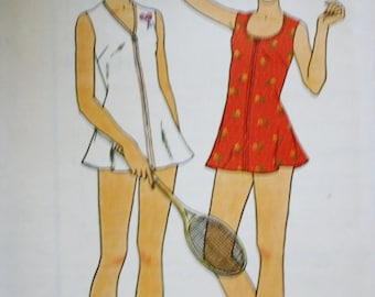 Tennis Dress /Butterick 3644/ Vintage Sewing Pattern /Bust 30.5