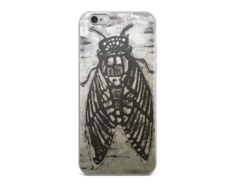 Fly iPhone Case With Black And White Batik Print