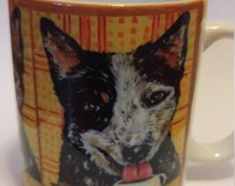 25% off australian cattle dog at the Coffee shop 11 oz mug cup gift dog art artwork