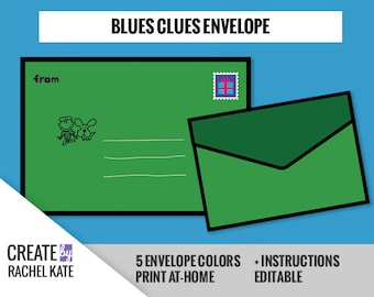Blues Clues Inspired 4x6 A6 Personalized Custom Invitation Invite Envelope