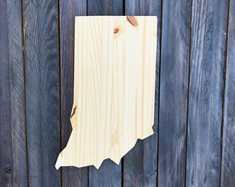 CUSTOMIZABLE Indiana, State of Indiana Wood Decor, Rustic State Home Decor, Wedding Housewarming Gift State, Other Sizes Available