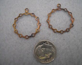 Vintage Oxidized Brass Earring  Findings