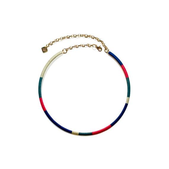 Color Block Hoop Necklace - Vivid