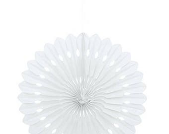 """16"""" White Tissue Paper Fan Decoration - Party Decorations Party Themes Reception Theme Ideas Birthday Party Supplies Ideas Party Favors"""