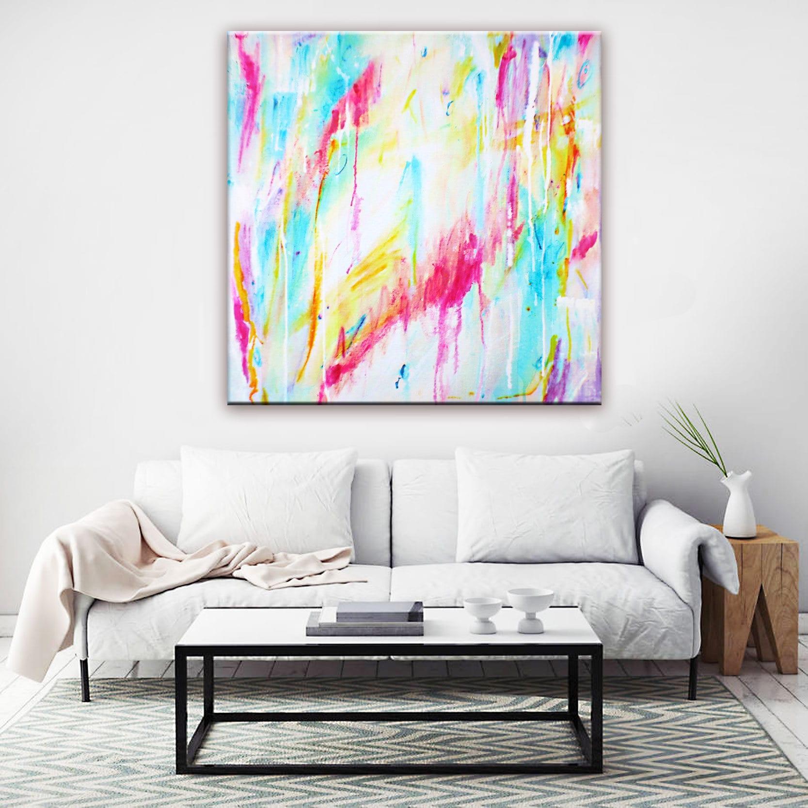 Arte abstracto pintura impresión lona impresión del arte de