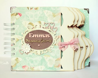 Personalized Pregnancy Journal Pregnancy diary Week by week Pregnancy album Mom to be journal Expecting baby diary Maternity gift