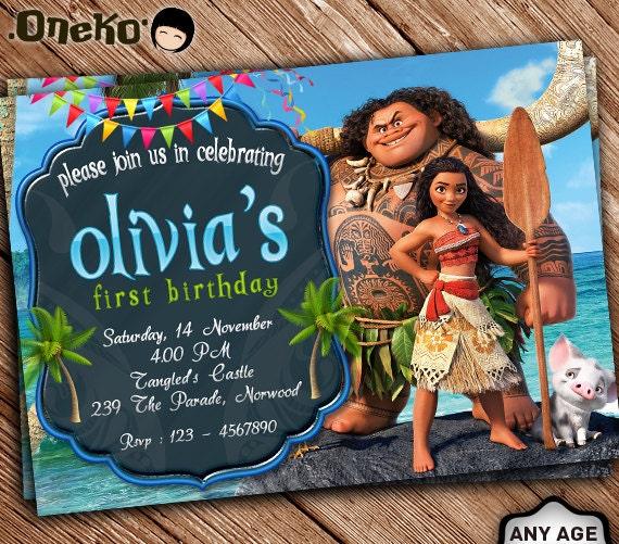 SALE 50 OFF Moana Birthday Invitation Printable Moana