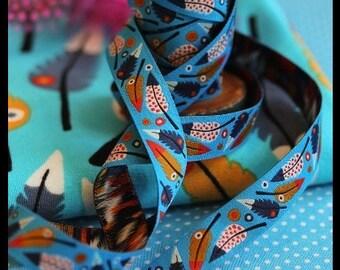 """Ribbon color mix """"Pluma"""" blue"""