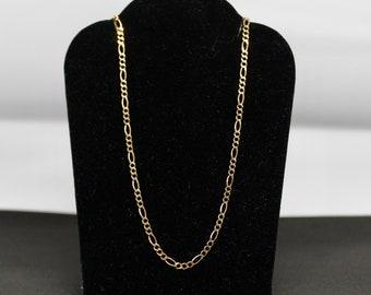 JEWELRY LIQUIDATION SALE Women's 16 Inch 3+1 Figaro Chain in 10Kt Gold