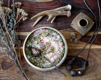 Sunlit Forest Bath Salt // Ritual Bath Salt // Herbal Bath Salt // Herbal Soak