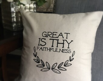 Great is Thy Faithfulness Pillow Cover