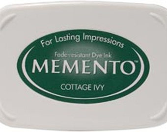 New Memento Full Size Ink Pad - COTTAGE IVY (Green) - Fade Resistant Dye Ink by Tsukineko