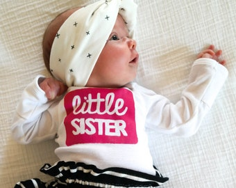 Little Sister Shirt - Sister Outfit - Pregnancy Announcement Shirt - Pregnancy Announcement - Birth Announcement - Baby Shower Gift - Baby