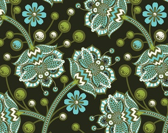 The Birds And the Bees by Tula Pink for Free Spirit - Bees Knees - Forest - 1/2 Yard Cotton Quilt Fabric 516