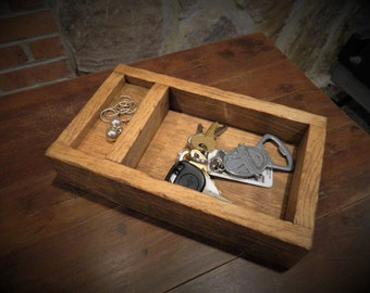 Rustic Wood Catch-All Tray, Trinket Tray, What Not Tray/box, Rustic Valet, Desk Organizer