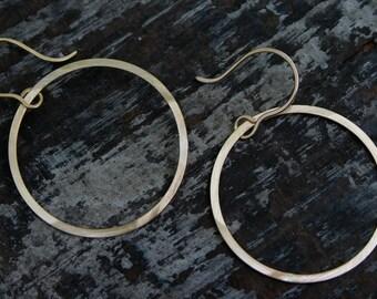 large open circle earrings.