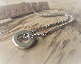 Sterling Silver Eternity Pendant Necklace Silver Circle Pendant Item No. JE2111 3382