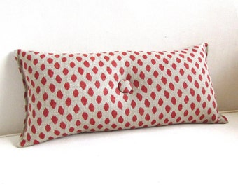 Coral Dots decorative accent toss throw lumbar  8x16 9x18 10x20