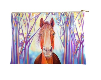 Horse at Dawn Make Up Bag, Cosmetics Bag,  Horse Pencil Case, Accessories Pouch - large and small size